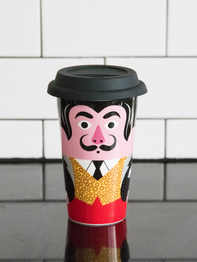 Travel mug with lid Ingela P Arrhenius, Salvador Dalí