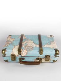 "Suitcase small vintage ""Around The World"""