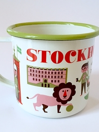 Mug Enamel Ingela P Arrhenius, People of Stockhom
