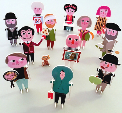"""Puzzle 3D Ingela P Arrhenius """"Artist parade"""""""