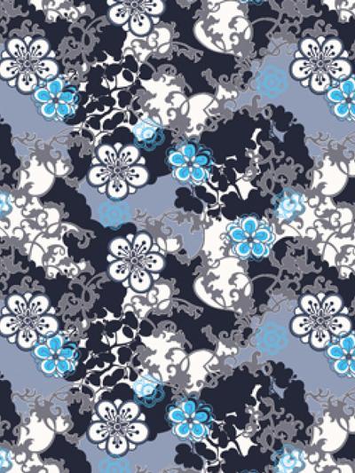 Bike Cap Bloom, grey and blue