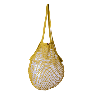 String bag, dusty lime