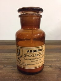 "Scented Candle in Apothecary Bottle ""Poison"""