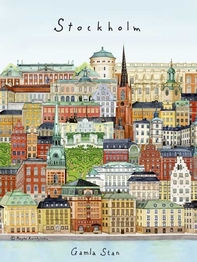 "Mini poster/postcard ""Stockholm/Gamla stan"" 15x21 cm"