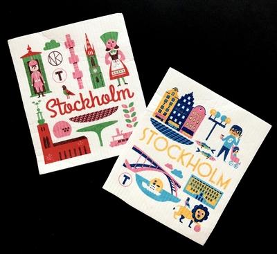 "Dishcloths, set of 2, ""Stockholm"" Ingela P Arrhenius"