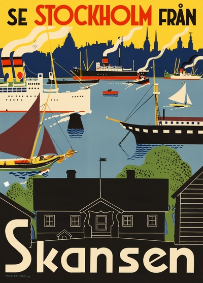 """Poster Come to Sweden """"Skansen"""" A4"""