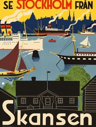 "Poster Come to Sweden ""Skansen"" A4"