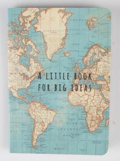 Vintage map notebook