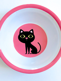 "Bowl Ingela P Arrhenius ""Cat on Pink"""