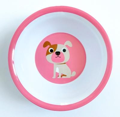 "Bowl Ingela P Arrhenius ""Dog on pink"""
