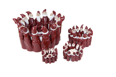 Candle holder Elf Ring of 6,5 cm, red