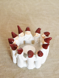 Candle holder Elf Ring of 7 cm, white