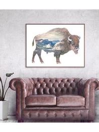 Poster 100x70 Faunascapes - Buffalo