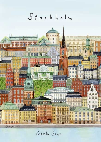 "A4 poster ""Stockholm/Gamla stan"""