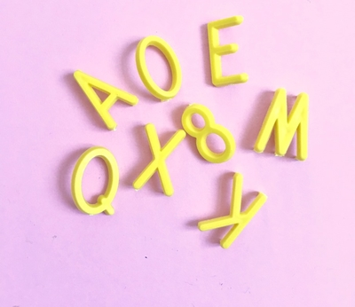 Letters for letterboard - Yellow