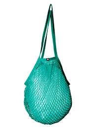 String bag, turquoise