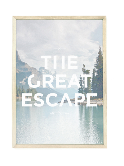 Affisch A3 Faunascapes - The Great Escape