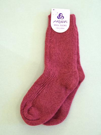 Wool Sock, burgundy