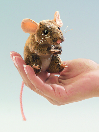 Finger puppet Mouse, brown