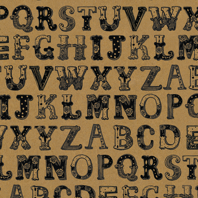 "Wrapping paper/poster ""Alphabet"" 49x70 cm"