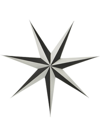 Paper star 80 cm Shadow, Black