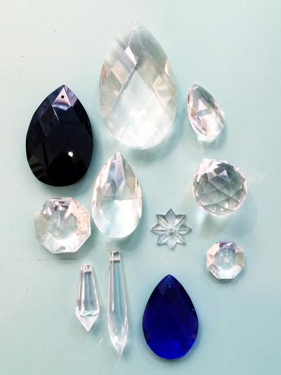 """Prism pendant """"Drop"""" black 6 cm"""
