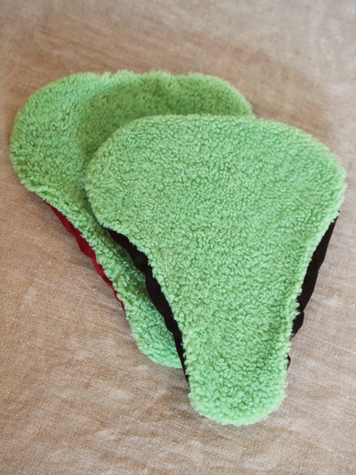 Seat Covers Sheepskin, green
