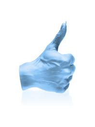 Handljus - Tummen upp, Ljusblå