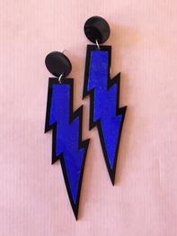 "Earrings Plastic Fantastic ""Flash"", blue"