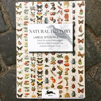 """Stickerbook """"Natural History - Labels, Stickers & Tapes"""""""