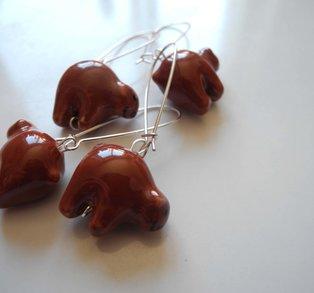 Örhänge brunbjörn