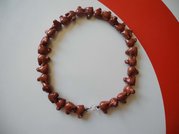 Halsband - Brunbjörnar Mega