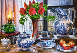 Still Life with Tulips 1500 Bitar Castorland
