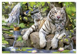 White Tigers of Bengal 1000 Bitar Educa
