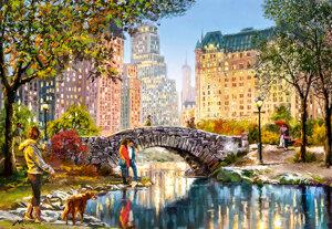 Evening walk through Central Park 1000 Bitar Castorland