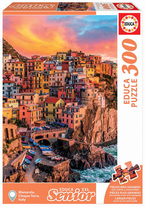 Manarola, Cinque Terre, Italy 300 XXL Bitar Educa