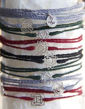 Long cotton thread chakra bracelet