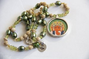 """""""The Green Ganesh necklace"""""""