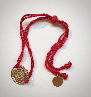 Silk Thread Chakra Bracelet - Gold