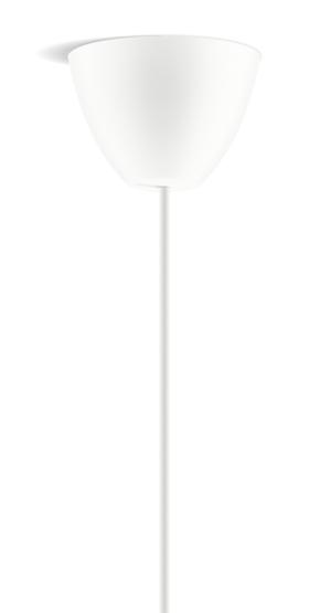 Dezall lamptops - Round vit matt