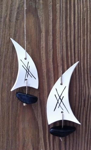 Båt - svart liten