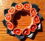 Kronljus-Manschett aprikos