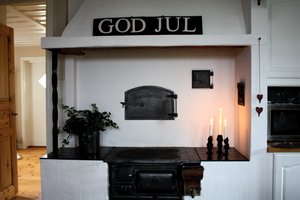 God Jul - vitmålat