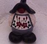 Stor tomtemor - svart
