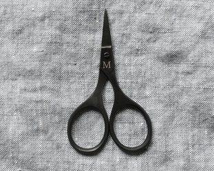 Small embroidery scissors in black from Merchant & Mills