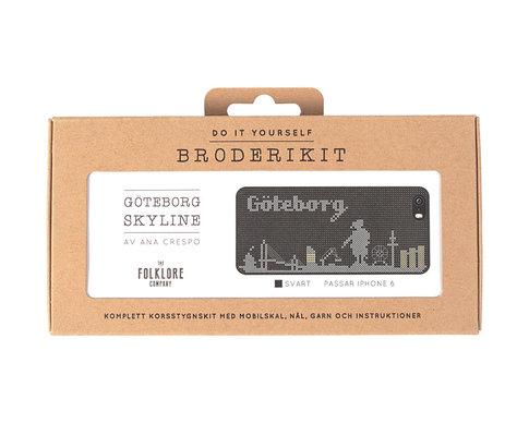 iPhone 6 cross stitch kit - Göteborg skyline