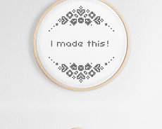 Cross stitch kit for beginners with hoop