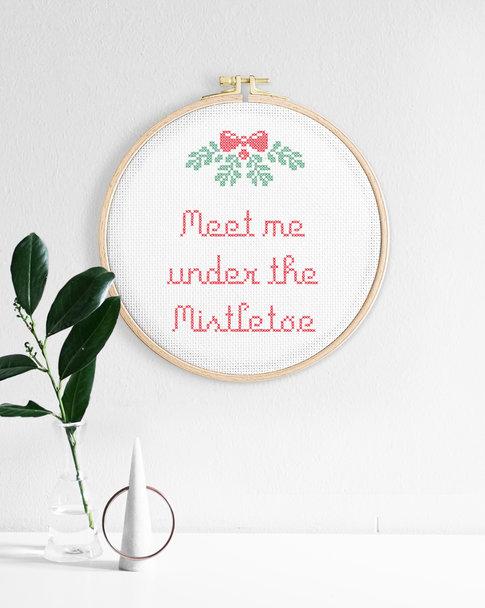 Broderikit aida - Mistletoe