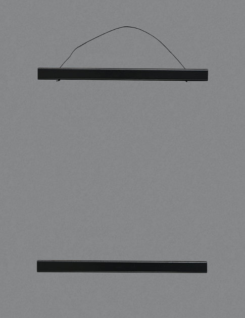 Wooden poster hanging, black.