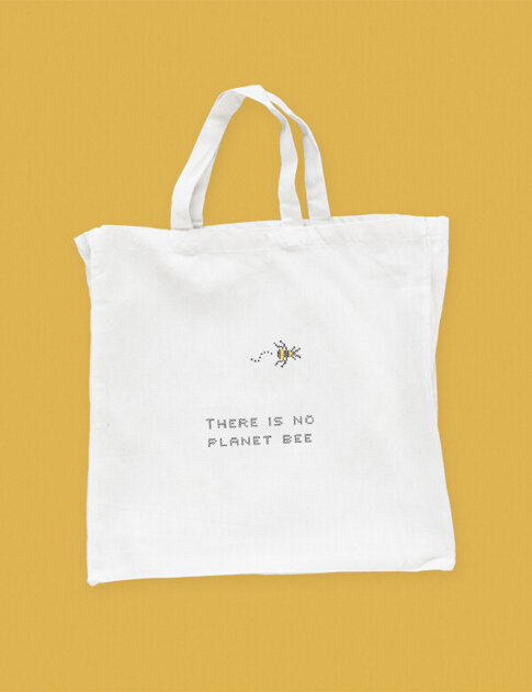 "DIY cross stitch kit tote bag ""Bee"""